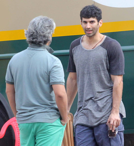Shraddha Kapoor and Aditya Roy Kapur Snapped on the sets of OK Janu