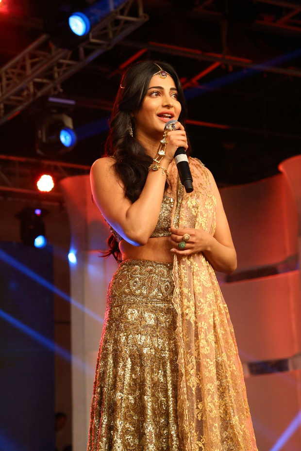 Shruti Haasan & Sridevi at Puli Audio Launch Photos