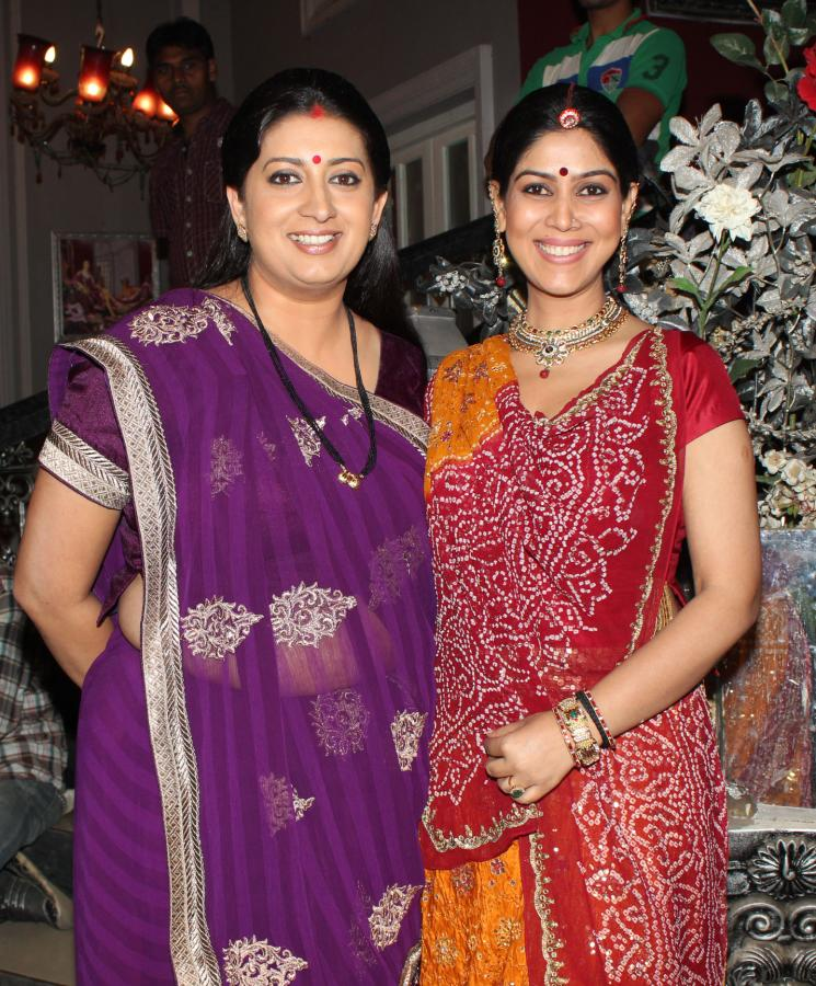 Smriti & Sakshi On Promo Shoot Of Balaji Telefilms New Serial