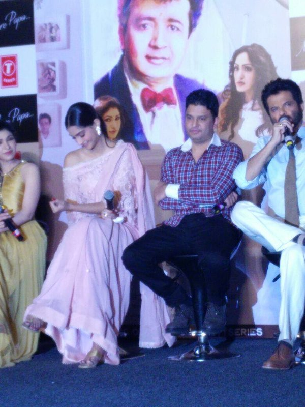 Sonama Kapoor & Anil Kapoor at The Song Launch of Mere Papa