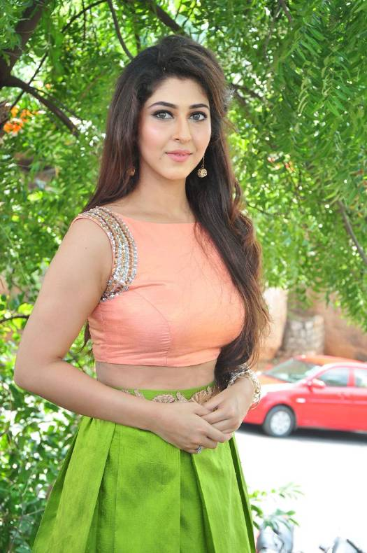 Sonarika Bhadoria New Photos in Orange Top