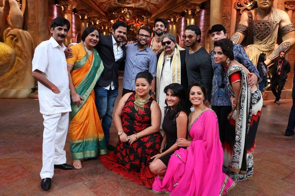 Sreesanth on the sets of Comedy Nights Bachao