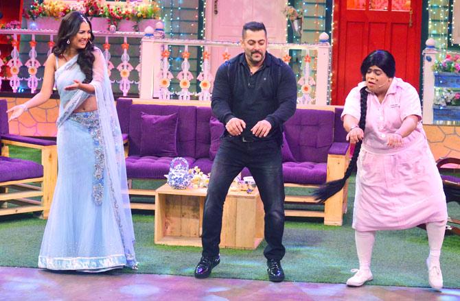 Salman Khan, Kiku Sharda & Rochelle Maria Rao