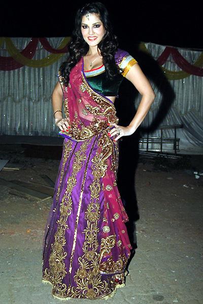 Sunny Leone In Fancy Saree
