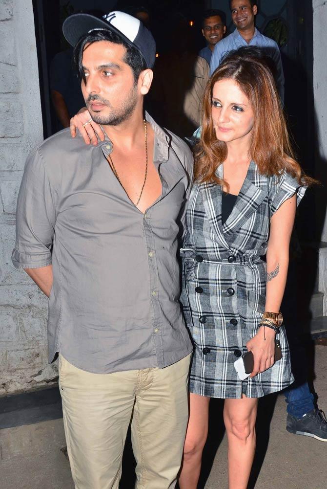 Sussanne Khan Dinner with her Brother Zayed Khan at Bandra Restaurant