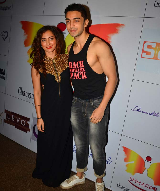 Lavina Tandon with Rohit