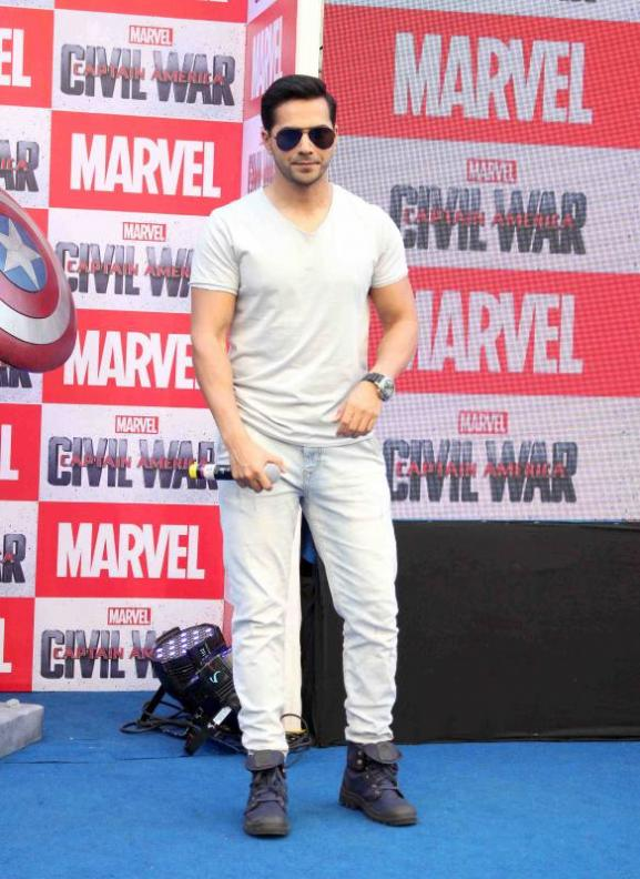 Varun Dhavan at Captain America Civil War Event