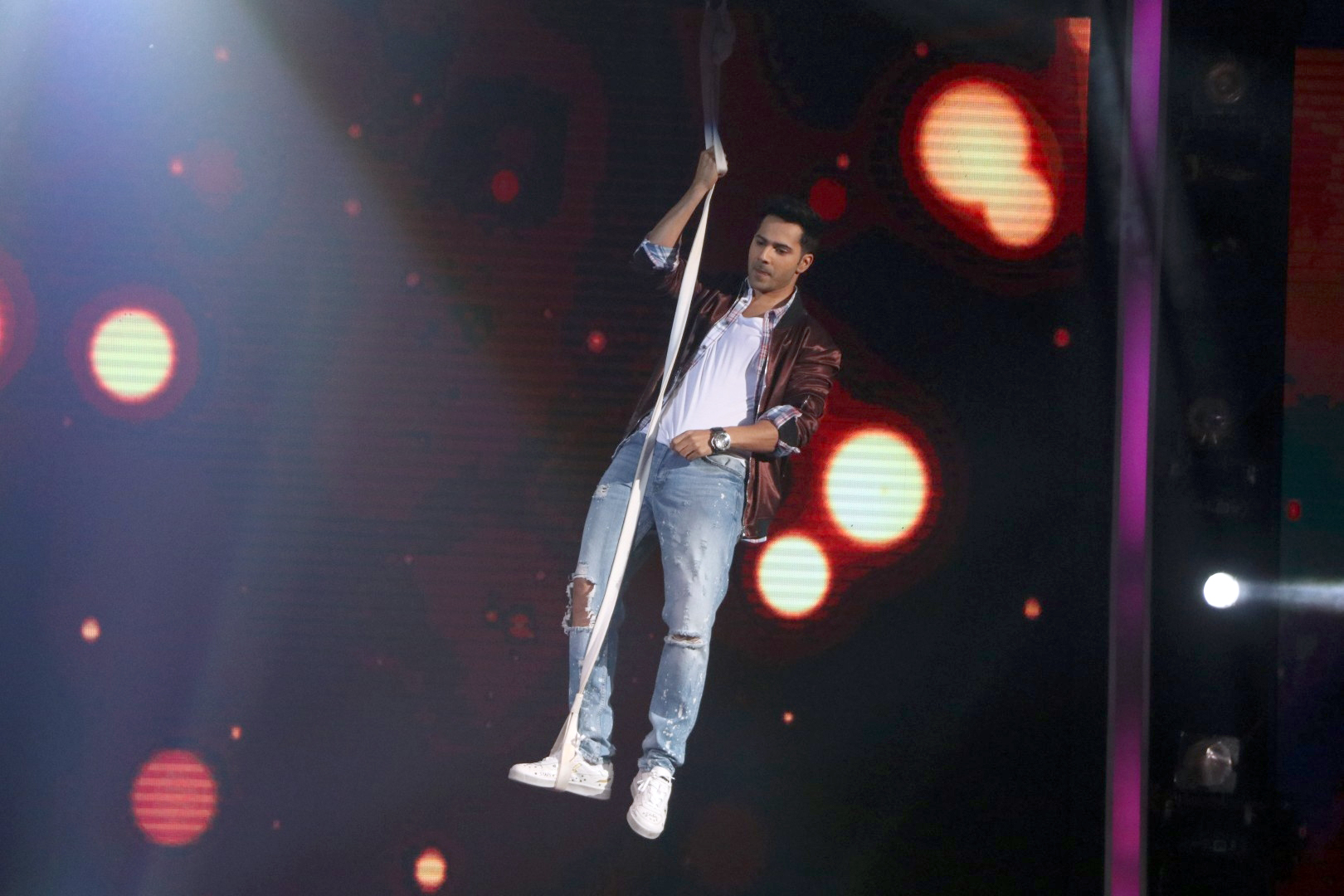 Varun Dhawan on the sets of SaReGaMaPa