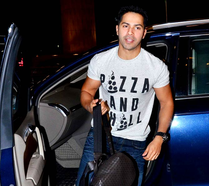 Varun Dhawan and Kangana Ranaut Spotted at Mumbai Airport