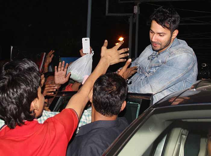 Varun Dhawan Spotted Outside A Movie Theatre