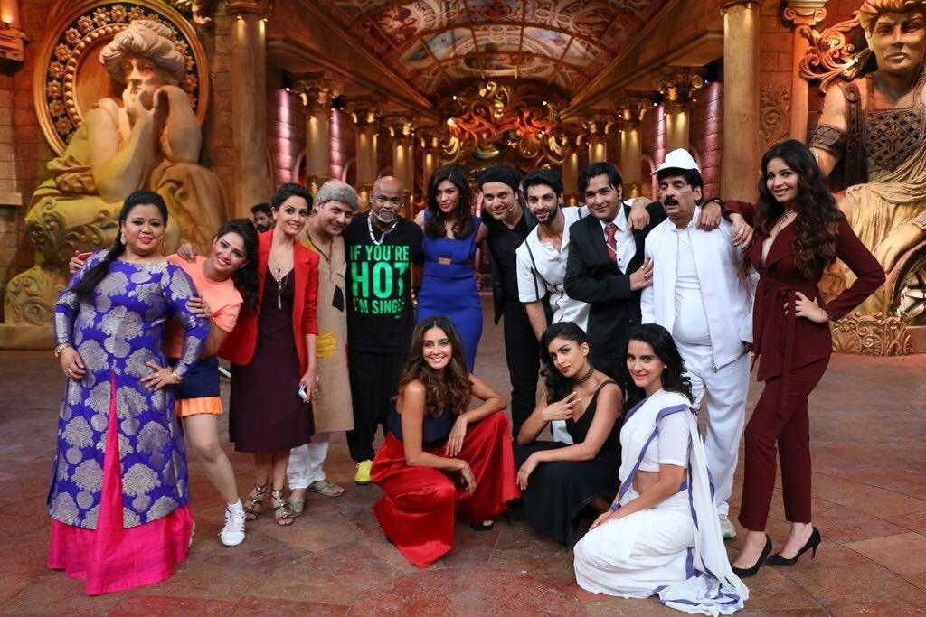Vinod Kambli on the sets of Comedy Nights Bachao