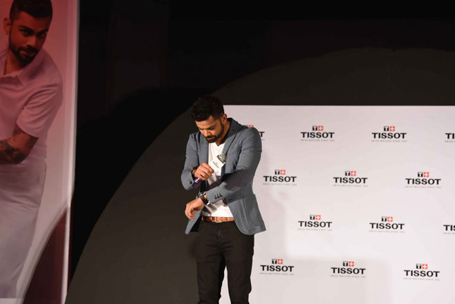 Virat Kohli at Tissot Brand Ambassador Launch Event