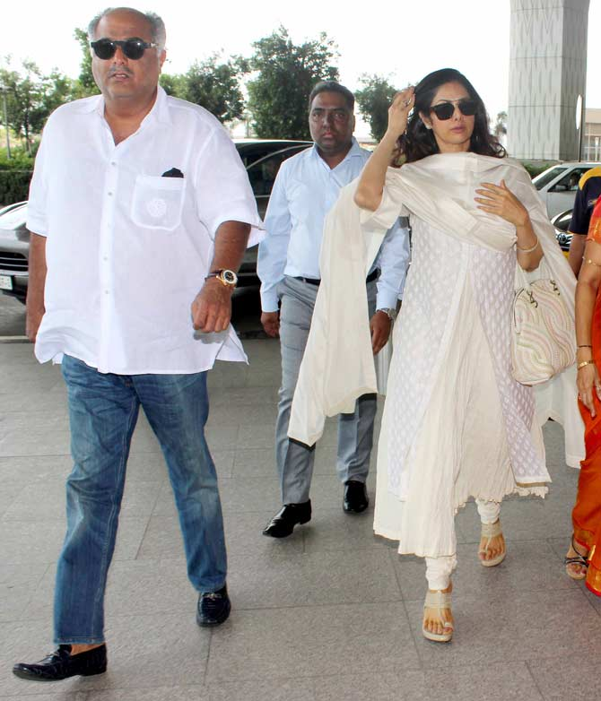 Yuvraj Singh, Hazel Keech, Sridevi and Boney Kapoor Spotted at Mumbai Airport